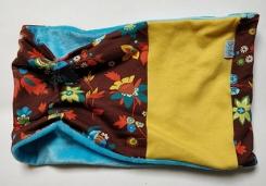 neckwarmer 70 geel blauw