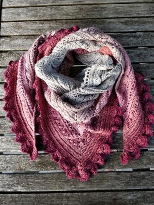 Summer sunset scarf